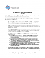 SB 7 – Redesign of IDD Services and Supports Brief – 5/27/2013