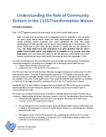 1115 T Waiver – Community Center LMHA Interacting Role – 02/2013