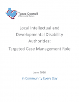 LIDDA: Targeted Case Management Issue Brief